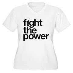 Fight the Power Women's Plus Size V-Neck T-Shirt