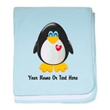 Customizable Penguin baby blanket