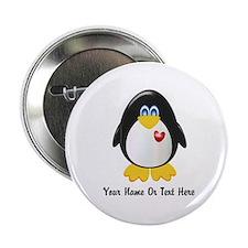 """Customizable Penguin 2.25"""" Button"""