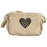 ZEBRA HEART Messenger Bag
