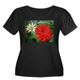 """Smashing Red Zinnia"" Plus Size T-Shirt"