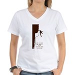Lot to Think About Women's V-Neck T-Shirt