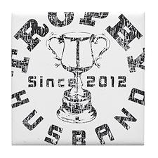 Trophy Husband Since 2012 Tile Coaster