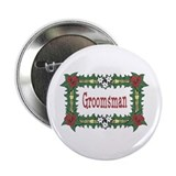 Groomsman Tropical Button