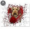 Valentines - Key to My Heart Airedale Puzzle