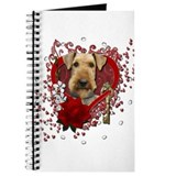 Valentines - Key to My Heart Airedale Journal