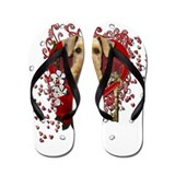 Valentines - Key to My Heart Airedale Flip Flops