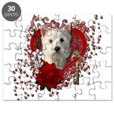 Valentines - Key to My Heart Westie Puzzle