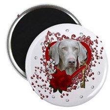 "Valentines - Key to My Heart Weimie 2.25"" Magnet ("