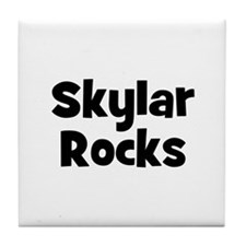 Skylar Rocks Tile Coaster