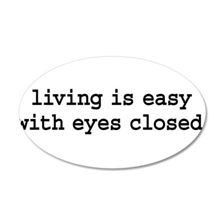 living is easy with eyes clos 38.5 x 24.5 Oval Wal