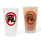 No More Republicans Drinking Glass
