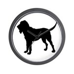 Bloodhound Silhouette Wall Clock