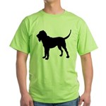 Bloodhound Silhouette Green T-Shirt
