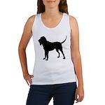 Bloodhound Silhouette Women's Tank Top