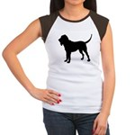 Bloodhound Silhouette Women's Cap Sleeve T-Shirt