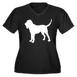 Bloodhound Silhouette Women's Plus Size V-Neck Dar