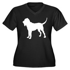 Bloodhound Silhouette Women's Plus Size V-Neck Dar