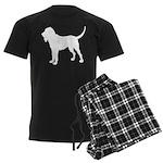 Bloodhound Silhouette Men's Dark Pajamas
