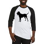 Bloodhound Silhouette Baseball Jersey