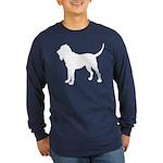 Bloodhound Silhouette Long Sleeve Dark T-Shirt
