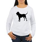 Bloodhound Silhouette Women's Long Sleeve T-Shirt