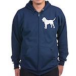 Bloodhound Silhouette Zip Hoodie (dark)