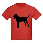 Bloodhound Silhouette Kids Dark T-Shirt