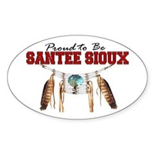 Proud to be Santee Sioux Decal