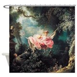 Funny Girl on swing Shower Curtain
