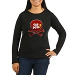 Caf-Pow Skull Women's Long Sleeve Dark T-Shirt