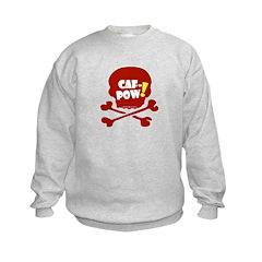 Caf-Pow Skull Kids Sweatshirt