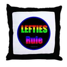 Lefties Rule Lefty Throw Pillow
