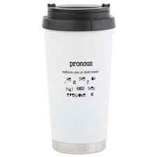 Pronoun Ceramic Travel Mug