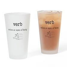 Verb Drinking Glass