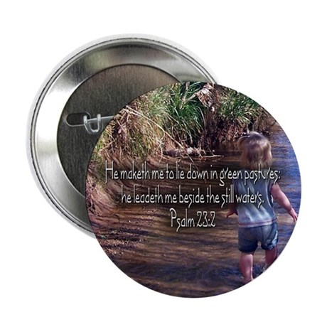 "Psalm 23:2 2.25"" Button (100 pack)"