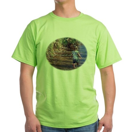 Psalm 23:2 Green T-Shirt
