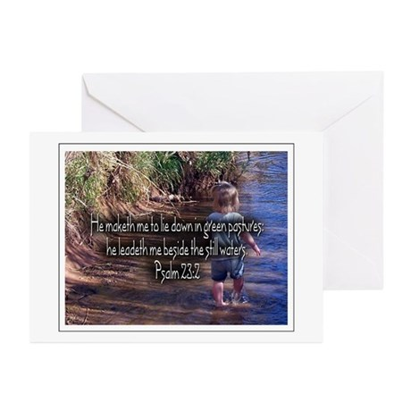 Psalm 23:2 Greeting Cards (Pk of 10)