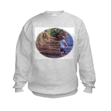 Psalm 23:2 Kids Sweatshirt