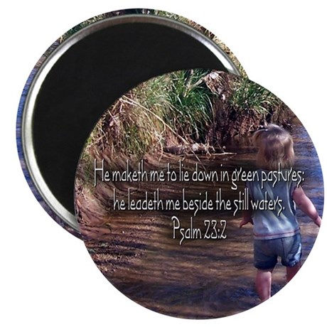 "Psalm 23:2 2.25"" Magnet (100 pack)"
