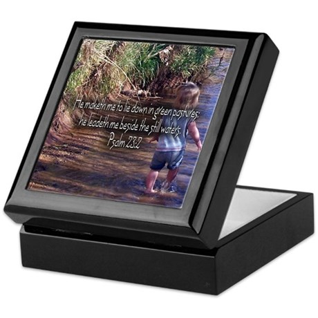 Psalm 23:2 Keepsake Box