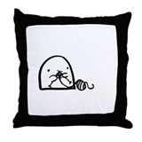 I love knitting Throw Pillow