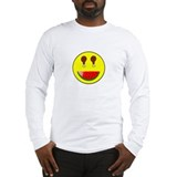 WATERMELON SMILEY FACE Long Sleeve T-Shirt
