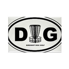 DG Oval - Rectangle Magnet
