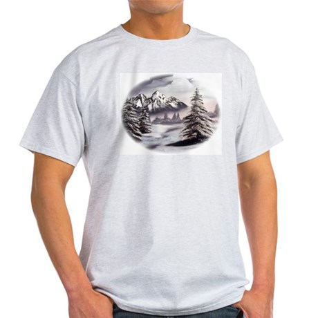 Snow Mountain Ash Grey T-Shirt