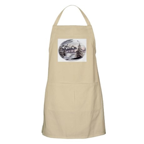 Snow Mountain BBQ Apron