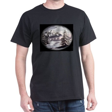 Snow Mountain Black T-Shirt