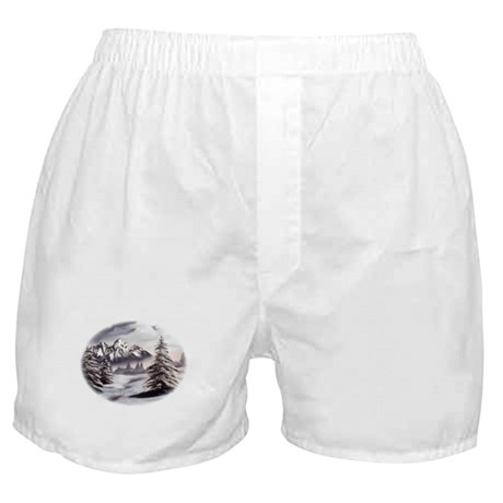 Snow Mountain Boxer Shorts