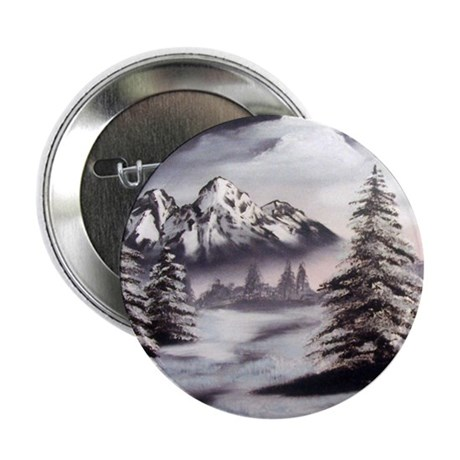 "Snow Mountain 2.25"" Button (10 pack)"