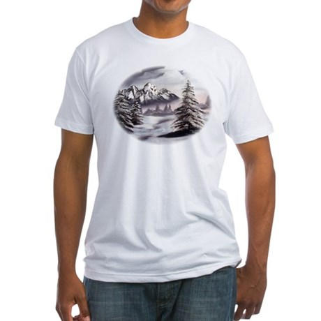 Snow Mountain Fitted T-Shirt
